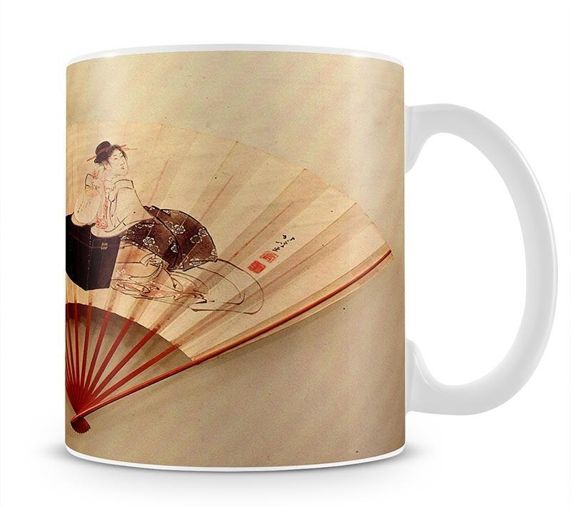 Young lady by Hokusai Cup - Canvas Art Rocks - 1