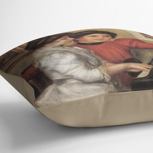 Yvonne and Christine Lerolle at the piano by Renoir Throw Pillow
