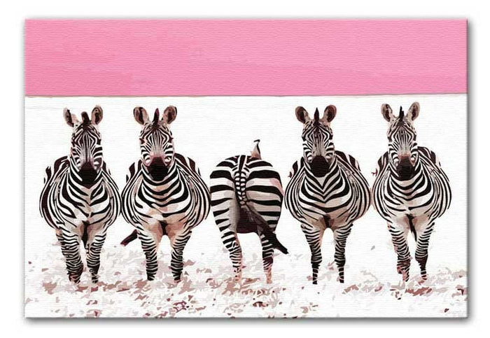 Zebra Identity Parade Canvas Print or Poster