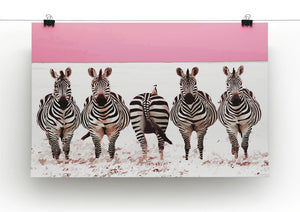 Zebra Identity Parade Print - Canvas Art Rocks - 2