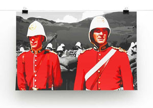Zulu Soldiers Print - Canvas Art Rocks - 2