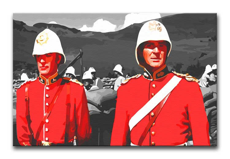 Zulu Soldiers Print - Canvas Art Rocks - 1