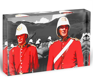 Zulu Soldiers Acrylic Block - Canvas Art Rocks - 1