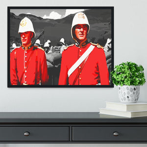 Zulu Soldiers Framed Print - Canvas Art Rocks - 2