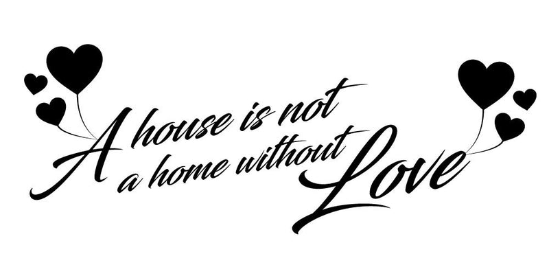 A Home With Love Wall Decal - Canvas Art Rocks - 2