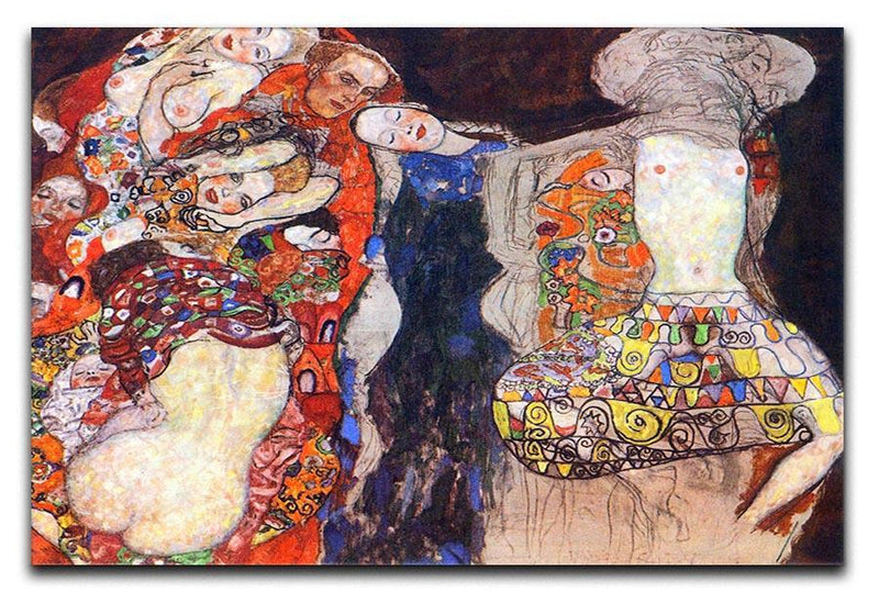 adorn the bride with veil and wreath by Klimt Canvas Print or Poster  - Canvas Art Rocks - 1