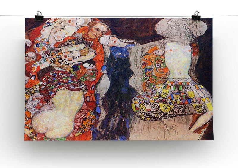 adorn the bride with veil and wreath by Klimt Canvas Print or Poster - Canvas Art Rocks - 2