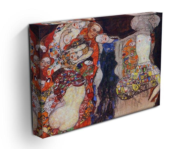 adorn the bride with veil and wreath by Klimt Canvas Print or Poster - Canvas Art Rocks - 3