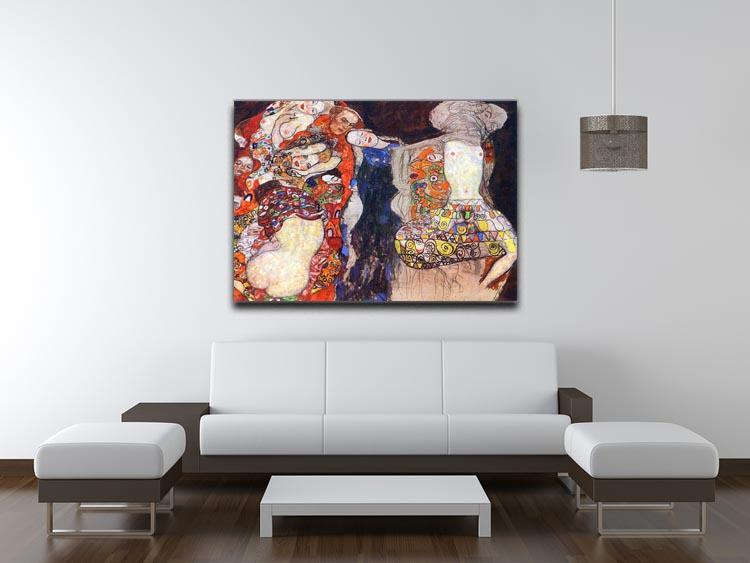 adorn the bride with veil and wreath by Klimt Canvas Print or Poster - Canvas Art Rocks - 4