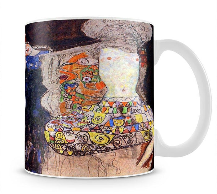 adorn the bride with veil and wreath by Klimt Mug