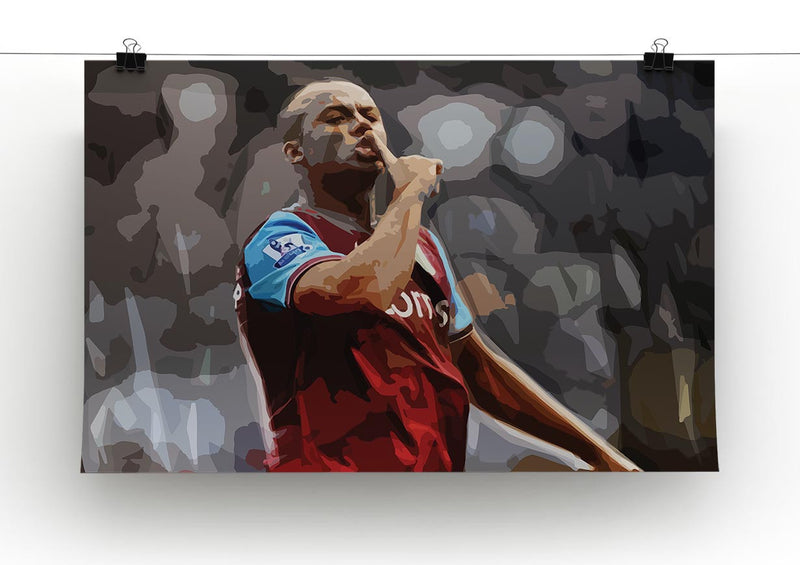 Agbonlahor Aston Villa Print - Canvas Art Rocks - 2