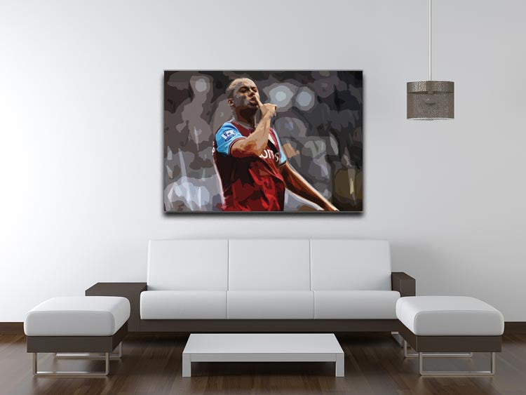 Agbonlahor Aston Villa Print - Canvas Art Rocks - 4