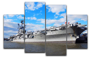 aircraft carriers built during World War II 4 Split Panel Canvas  - Canvas Art Rocks - 1