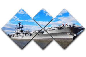 aircraft carriers built during World War II 4 Square Multi Panel Canvas  - Canvas Art Rocks - 1