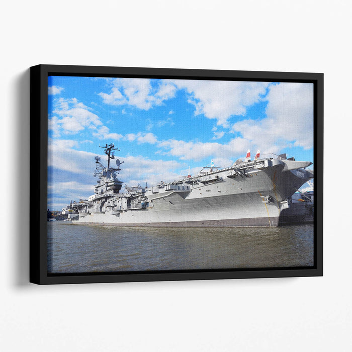 aircraft carriers built during World War II Floating Framed Canvas