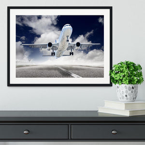 airplane take-off Framed Print - Canvas Art Rocks - 1