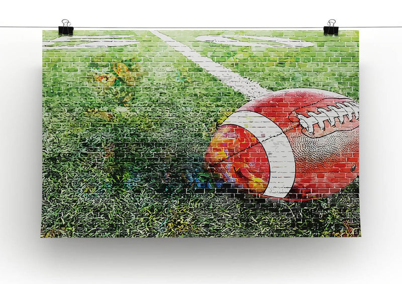 American Football Canvas Print or Poster - Canvas Art Rocks