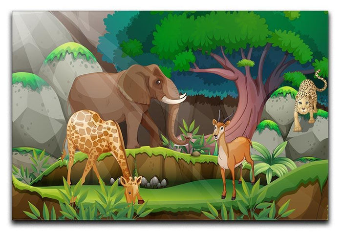 animals in the jungle Canvas Print or Poster
