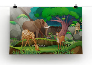 animals in the jungle Canvas Print or Poster - Canvas Art Rocks - 2
