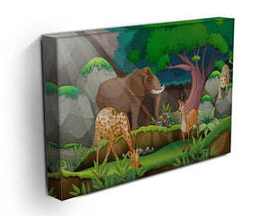 animals in the jungle Canvas Print or Poster - Canvas Art Rocks - 3