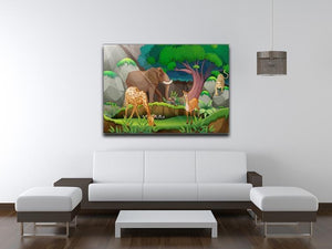 animals in the jungle Canvas Print or Poster - Canvas Art Rocks - 4