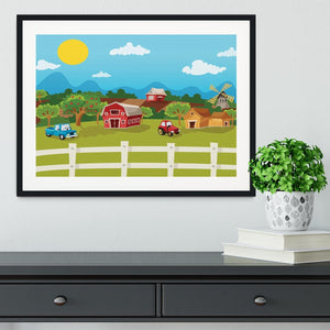 apple garden in rural landscape Framed Print - Canvas Art Rocks - 1