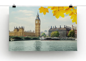autumn leaves and Big Ben London Canvas Print or Poster - Canvas Art Rocks - 2