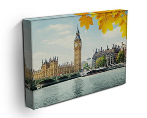 autumn leaves and Big Ben London Canvas Print or Poster - Canvas Art Rocks - 3