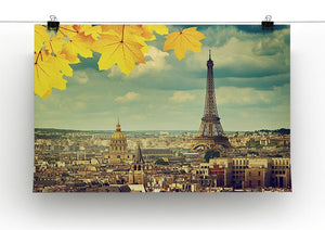 autumn leaves in Paris and Eiffel tower Canvas Print or Poster - Canvas Art Rocks - 2