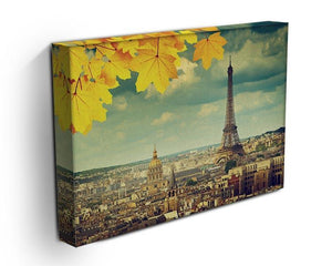 autumn leaves in Paris and Eiffel tower Canvas Print or Poster - Canvas Art Rocks - 3