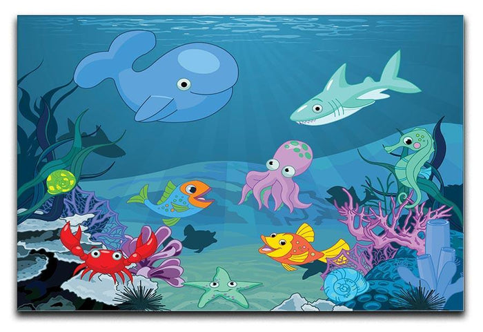 background of an underwater life Canvas Print or Poster