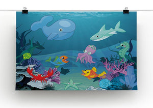 background of an underwater life Canvas Print or Poster - Canvas Art Rocks - 2