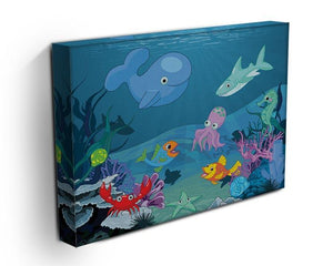 background of an underwater life Canvas Print or Poster - Canvas Art Rocks - 3