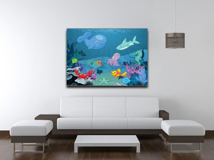 background of an underwater life Canvas Print or Poster - Canvas Art Rocks - 4