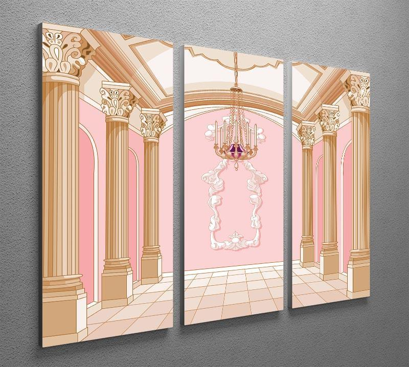 ballroom of magic castle 3 Split Panel Canvas Print - Canvas Art Rocks - 2