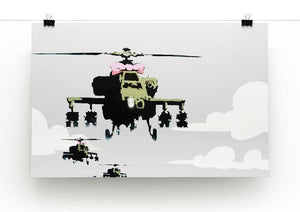 Banksy Friendly Helicopters Print - Canvas Art Rocks - 2