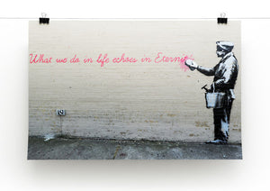 Banksy What We Do In Life Print - Canvas Art Rocks - 2