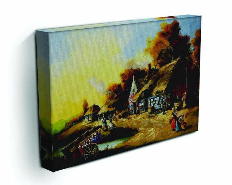 banksy Countryside Graffiti Canvas Print or Poster - Canvas Art Rocks - 3