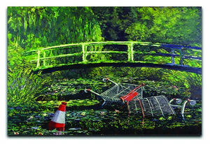 banksy Water Lilies Trash Canvas Print or Poster  - Canvas Art Rocks - 1