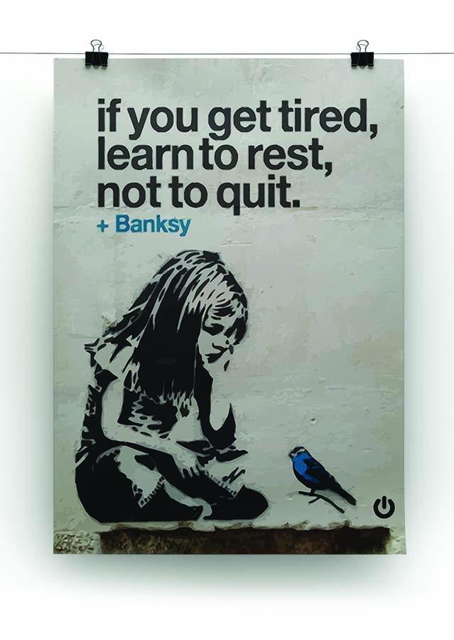 banksy if you get tired Canvas Print or Poster - Canvas Art Rocks - 2