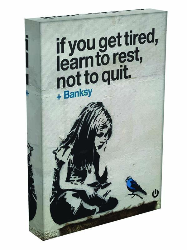 banksy if you get tired Canvas Print or Poster - Canvas Art Rocks - 3