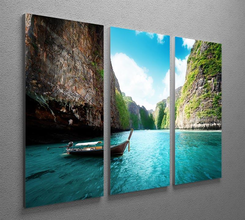bay at Phi phi island in Thailand 3 Split Panel Canvas Print - Canvas Art Rocks - 2