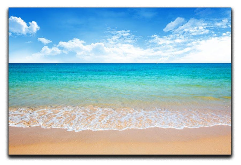 beach and tropical sea Canvas Print or Poster  - Canvas Art Rocks - 1