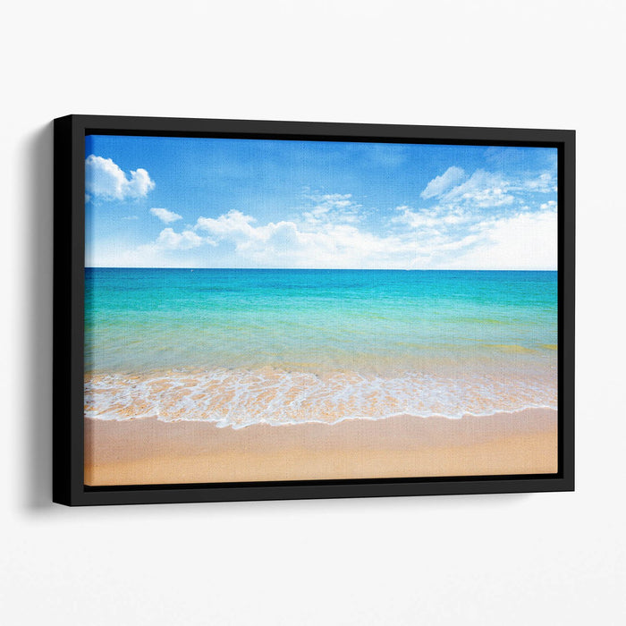 beach and tropical sea Floating Framed Canvas