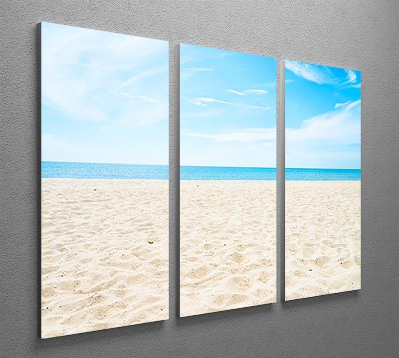 beach background with copy space 3 Split Panel Canvas Print - Canvas Art Rocks - 2