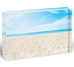 beach background with copy space Acrylic Block - Canvas Art Rocks - 1