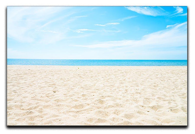 beach background with copy space Canvas Print or Poster  - Canvas Art Rocks - 1