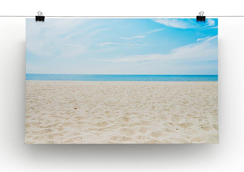 beach background with copy space Canvas Print or Poster - Canvas Art Rocks - 2