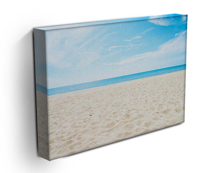 beach background with copy space Canvas Print or Poster - Canvas Art Rocks - 3