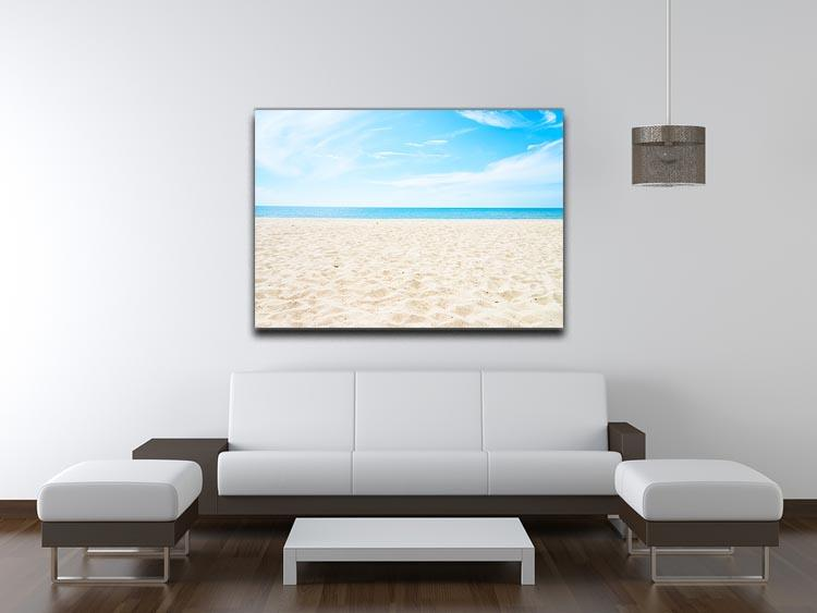 beach background with copy space Canvas Print or Poster - Canvas Art Rocks - 4